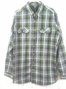 NWOT Eddie Bauer Button Front Shirt L/S Plaid TXL